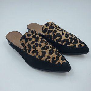 Halogen Corbin Leopard Calf Hair Slide Loafer Mule